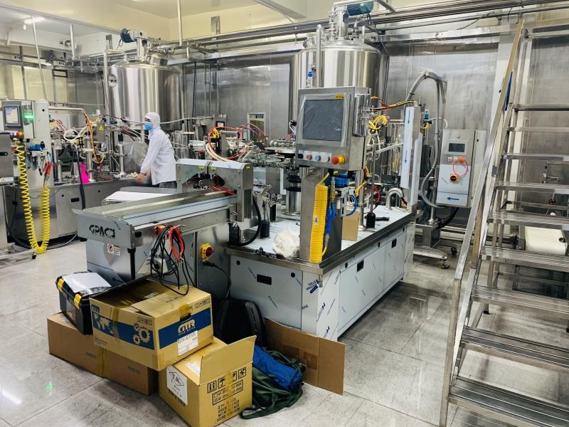 Trọng Nghĩa lắp đặt máy chiết rót đóng gói công suất 80 gói/phút tại KCN Trà Nóc Cần Thơ